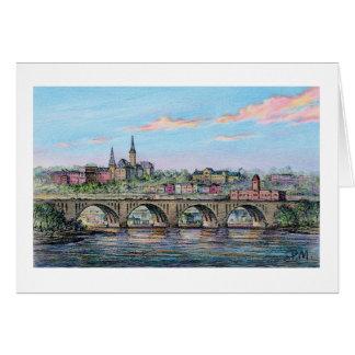 """Paul McGehee """"Georgetown - Key Bridge"""" Card"""