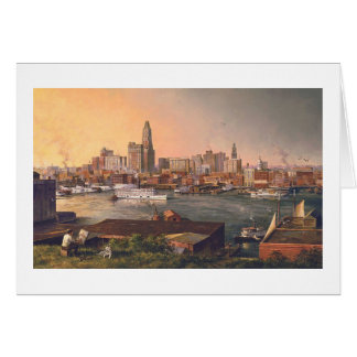 "Paul McGehee ""Old Baltimore Harbour"" Card"