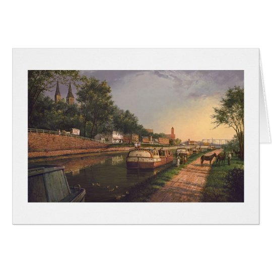 "Paul McGehee ""Old C & O Canal at Georgetown"" Card"