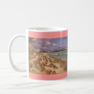 "Paul McGehee ""The Beach at Waikiki"" Hawaiian Mug"