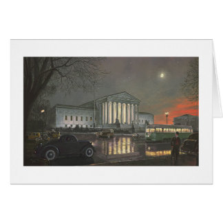 """Paul McGehee """"The Supreme Court by Moonlight"""" Card"""