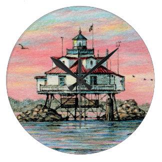 "Paul McGehee ""Thomas Point Dawn"" Clock"