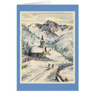 "Paul McGehee ""Zallinger Chapel"" Christmas Card"