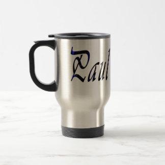 Paul Name Male Logo, Travel Mug