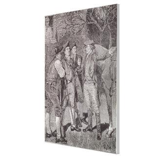 Paul Revere at Lexington Canvas Print