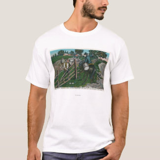 Paul Revere Informing Gen. Israel Putnam T-Shirt
