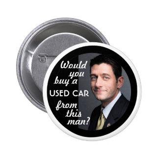Paul Ryan Car Salesman 6 Cm Round Badge