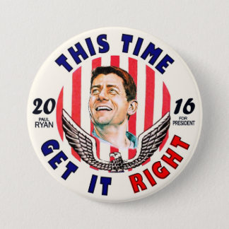 Paul Ryan for President 2016 7.5 Cm Round Badge