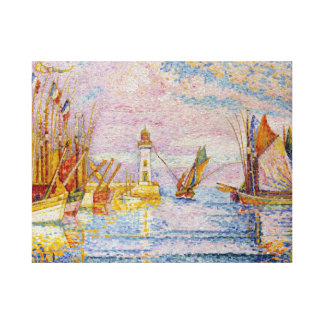 Paul Signac Lighthouse at Groix Canvas Print