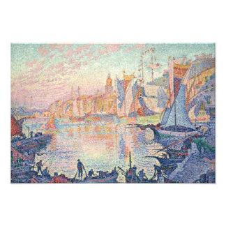 Paul Signac - The Port of Saint-Tropez Photo Print