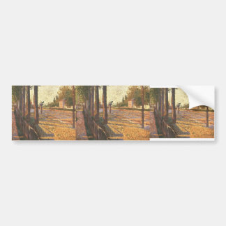 Paul Signac- The Railway at Bois Colombes Bumper Stickers