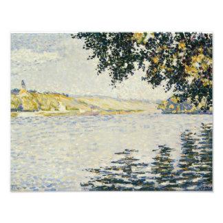 Paul Signac - View of the Seine at Herblay Photo Art