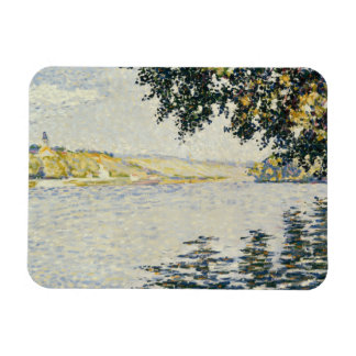 Paul Signac - View of the Seine at Herblay Rectangular Photo Magnet