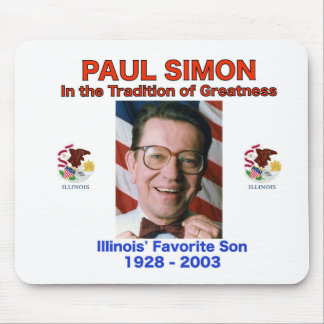 Paul Simon Mousepad Illinois Senator