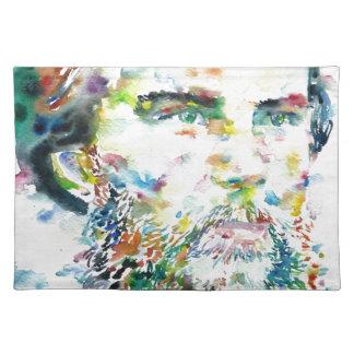 PAUL VERLAINE - watercolor portrait Placemat