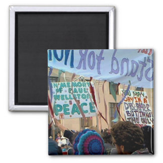 Paul Wellstone, In Mermory of, At Anti War Protest Square Magnet