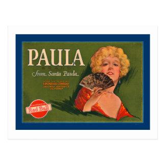 Paula Brand from Santa Paula Postcard