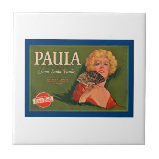 Paula Brand Vintage Crate Label Ceramic Tiles