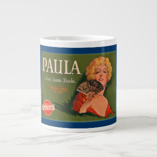 Paula Brand Vintage Crate Label Large Coffee Mug