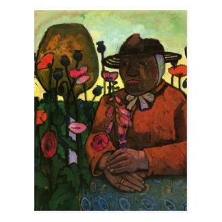 Paula Modersohn-Becker- Old Woman in the Garden Postcard