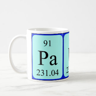 Paula periodic table name mug