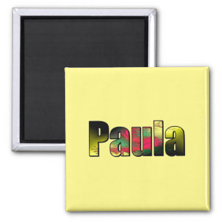 Paula Square Magnet in yellow