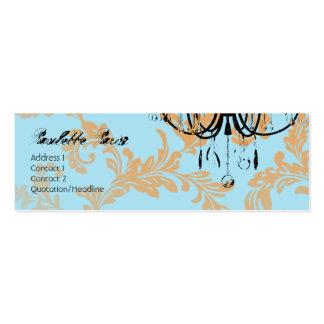 Paulette Paris Aqua Damask Chandelier Business Card