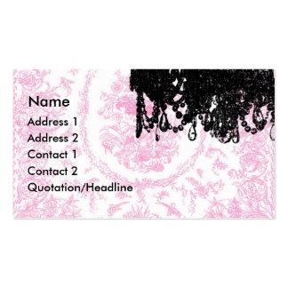 Paulette Paris Chandelier and Toile Business Cards