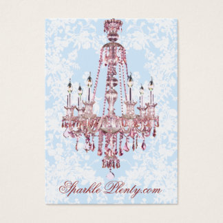 PauletteParis Pink Chandelier Chubby Business Card