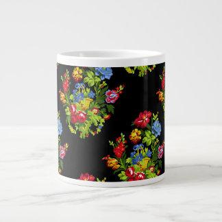 Paulina Folk Art Mug in black