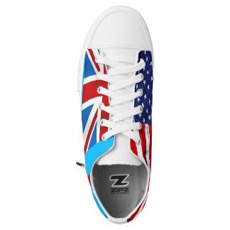 Pauline: 2 Flags Low Top Sneakers