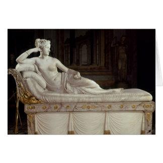Pauline Bonaparte  as Venus Triumphant, c.1805-08 Card