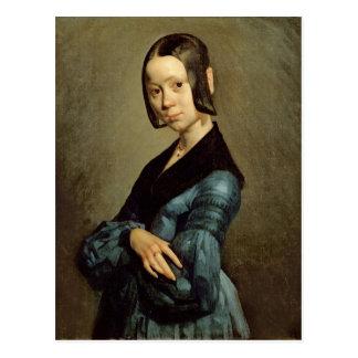 Pauline Ono  in Blue, 1841-42 Postcard