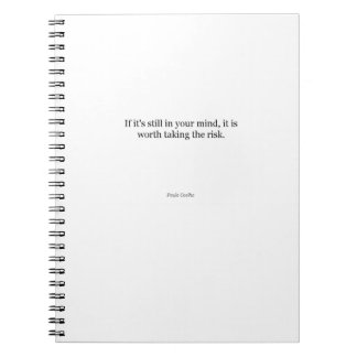 Paulo Coelho Quote Notebook