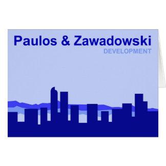 Paulos & Zawadowski DEVELOPMENT; Denver, Colorado Card