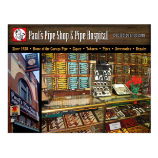 Paul's Pipe Shop Postcard