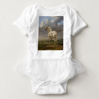 "Paulus Potter - The ""Piebald"" Horse. Vintage Image Baby Bodysuit"