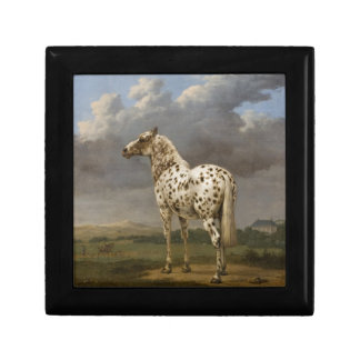 "Paulus Potter - The ""Piebald"" Horse. Vintage Image Small Square Gift Box"