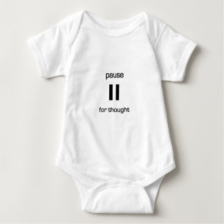 Pause for Thought (black text) Baby Bodysuit