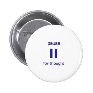 Pause for Thought (blue text) Pin