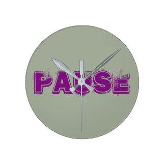 """Pause"" Wall Clock"