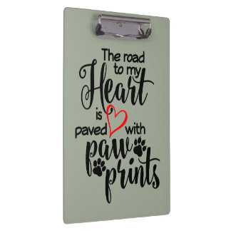 Paved In Paw Prints Clipboard