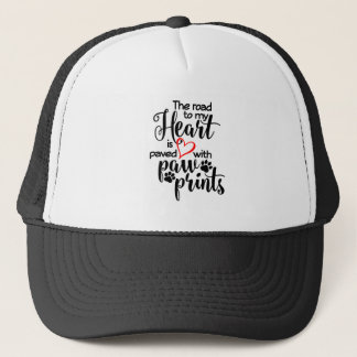 Paved In Paw Prints Trucker Hat