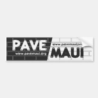 PaveMaui.org bumper sticker