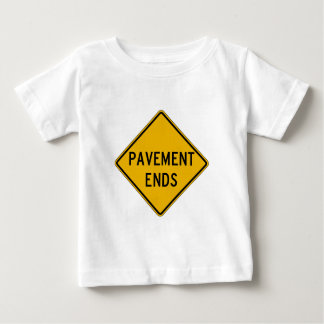 Pavement Ends 1, Traffic Warning Sign, USA Tee Shirt