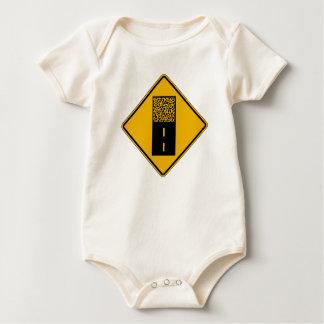 Pavement Ends 2, Traffic Warning Sign, USA Baby Bodysuit