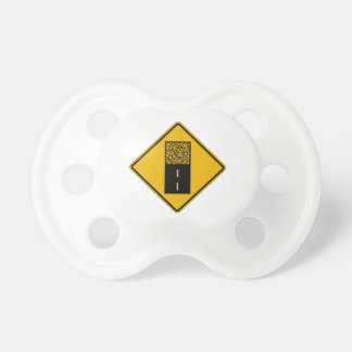 Pavement Ends 2 Traffic Warning Sign USA Baby Pacifiers