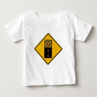 Pavement Ends 2, Traffic Warning Sign, USA Tee Shirt