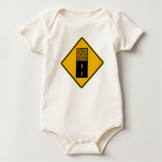 Pavement Ends 2, Traffic Warning Sign, USA Baby Bodysuits