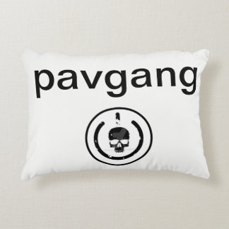 pavgang pillow case with logo on it